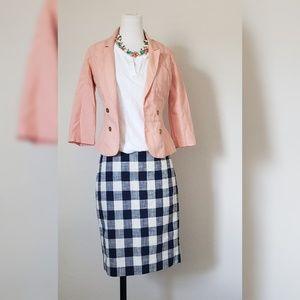 Jcrew Factory Blue and White straight Skirt